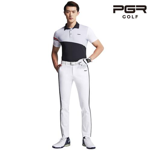 PGR GP-1081 남성골프 화이트 바지 남자팬츠 기능성