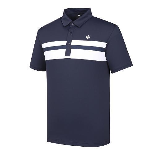 [레노마골프]남성 라인 포인트 카라 반팔 티셔츠 RMTYJ2122-925_G
