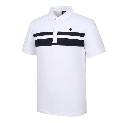 [레노마골프]남성 라인 포인트 카라 반팔 티셔츠 RMTYJ2122-101_G