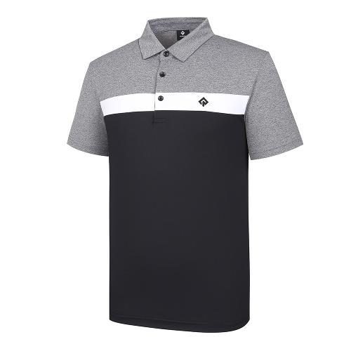 [레노마골프]남성 컬러 블록 카라 반팔 티셔츠 RMTYJ2121-199_G