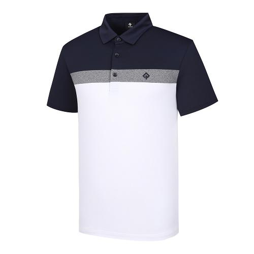 [레노마골프]남성 컬러 블록 카라 반팔 티셔츠 RMTYJ2121-101_G