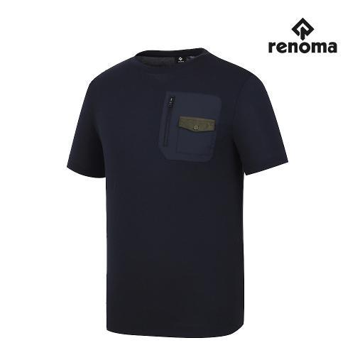 [레노마골프]남성 가슴 포켓 라운드 반팔 티셔츠 RMTRJ2140-925_G