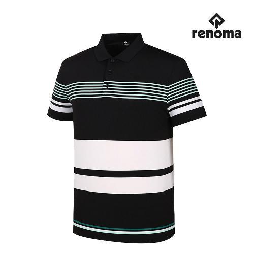[레노마골프]남성 쿨파인 줄무늬 카라 반팔 티셔츠 RMTYJ2183-199_G
