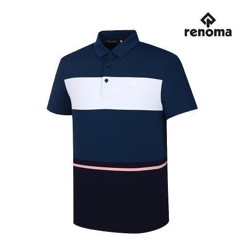 [레노마골프]남성 컬러 블록 카라 반팔 티셔츠 RMTYJ2136-912_G