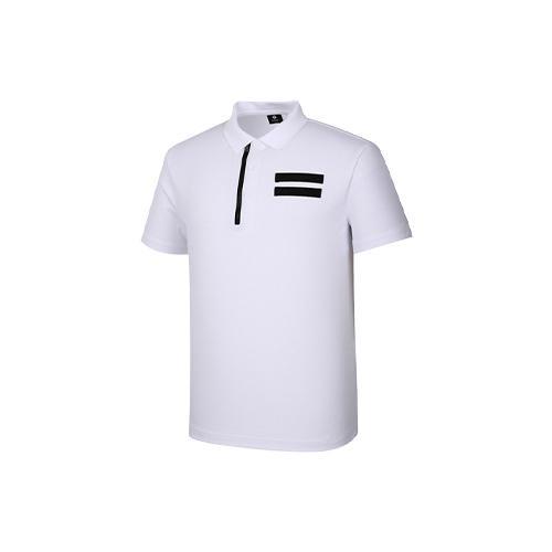 [레노마골프]남성 가슴 원반집업 카라 반팔 티셔츠 RMTPJ2132-100_G