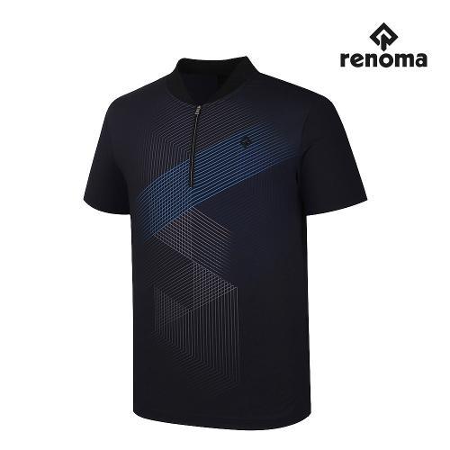 [레노마골프]남성 앞판 패턴 반집업 반팔 티셔츠 RMTHJ2112-199_G