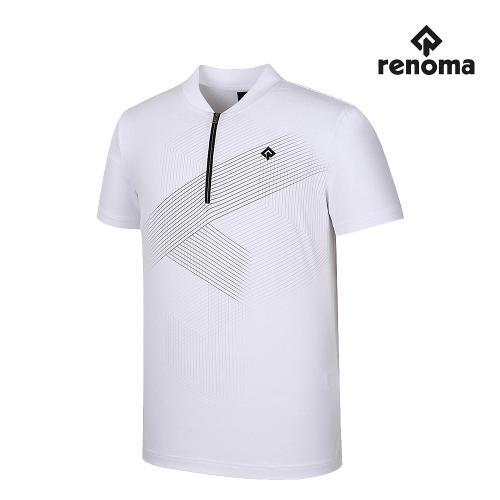 [레노마골프]남성 앞판 패턴 반집업 반팔 티셔츠 RMTHJ2112-100_G