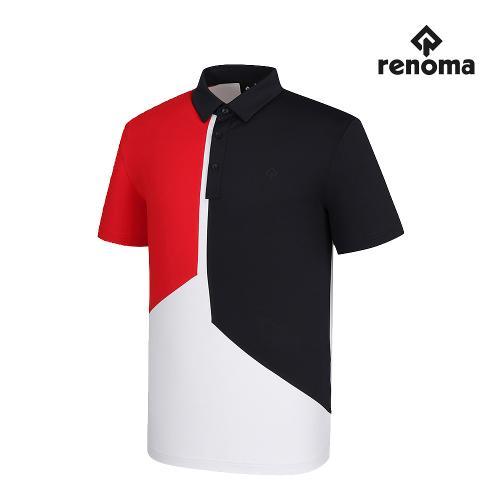 [레노마골프]남성 면분할 카라 반팔 티셔츠 RMTYJ2184-100_G