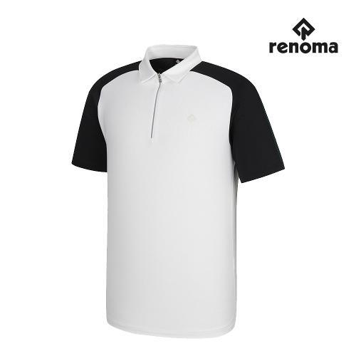 [레노마골프]남성 반집업 카라 반팔 티셔츠 RMTYJ2106-100_G
