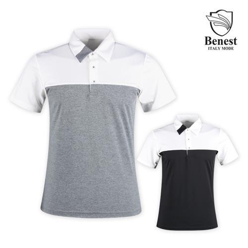 베네스트 남성 냉감 반팔 골프 티셔츠 NBE1M405