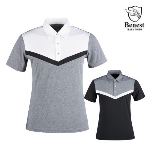 베네스트 남성 냉감 반팔 골프 티셔츠 NBE1M404