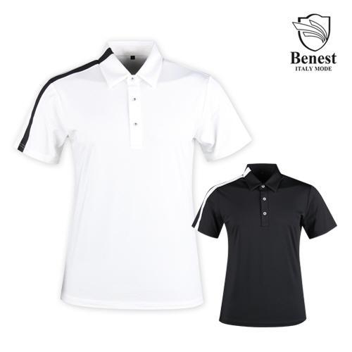 베네스트 남성 냉감 반팔 골프 티셔츠 NBE1M403