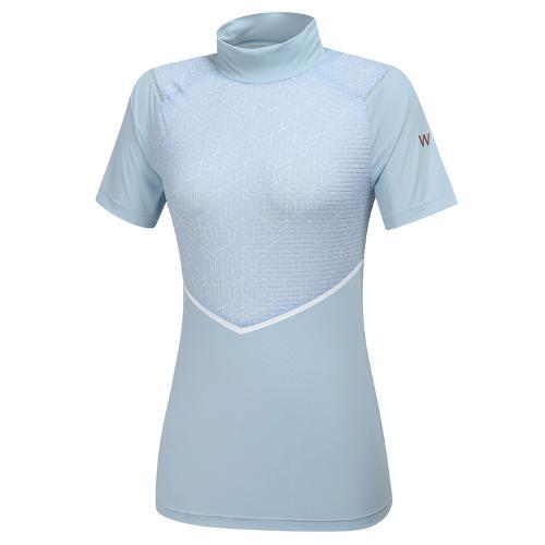 [와이드앵글] 여성 WL 엔젤 하이넥 반팔 티셔츠 L WWM21216B1