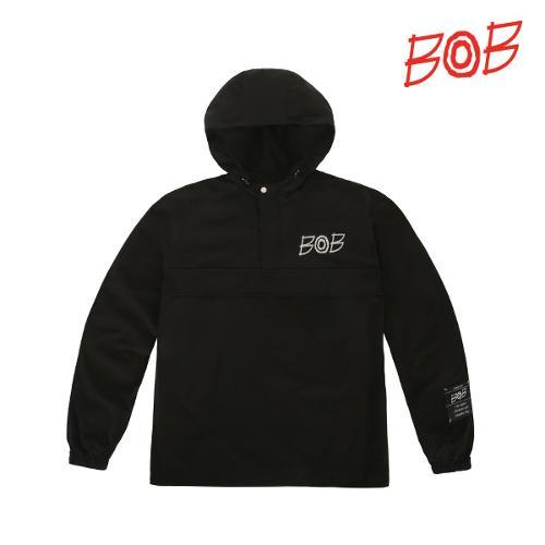 BOB 남성 방풍 후드 긴팔 골프 바람막이 - GBS1JA010_BK