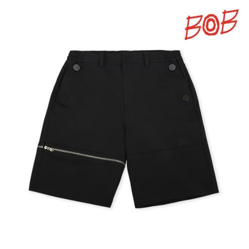BOB 남성 와이드핏 골프 반바지 - GBM1PS010_BK
