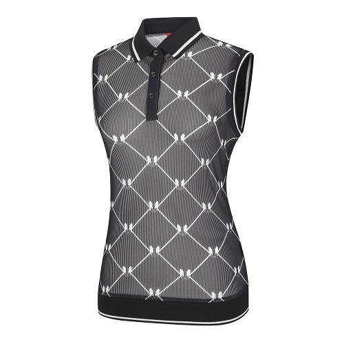 [레노마골프]여성 메쉬 패턴 카라 민소매 티셔츠 RWTVI6139-199_G