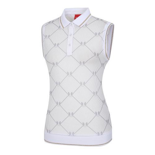 [레노마골프]여성 메쉬 패턴 카라 민소매 티셔츠 RWTVI6139-100_G