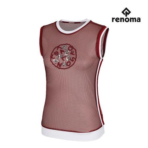 [레노마골프]여성 메쉬 배색 자수 민소매 티셔츠 RWTSH6132-420_G