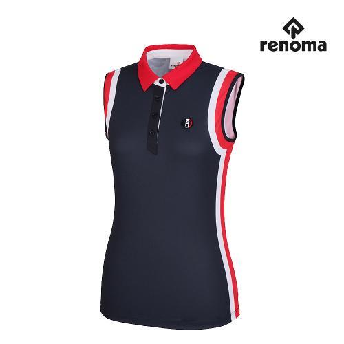 [레노마골프]여성 배색 포인트 카라 민소매 티셔츠 RWTSH6112-915_G