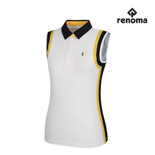 [레노마골프]여성 배색 포인트 카라 민소매 티셔츠 RWTSH6112-100_G
