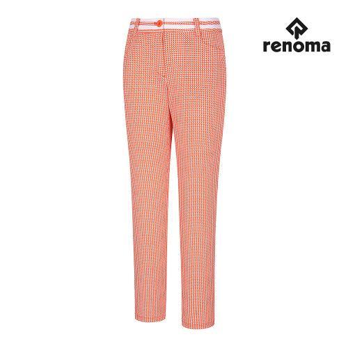 [레노마골프]여성 패턴 허리 포인트 팬츠 RWPTG6502-301_G