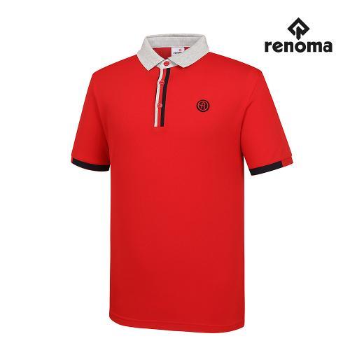[레노마골프]남성 배색 카라 반팔 티셔츠 RMTPG2101-500_G
