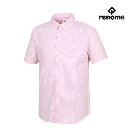 [레노마골프]남성 스트라이프 패턴 반팔 셔츠 RMBSG2602-411_G