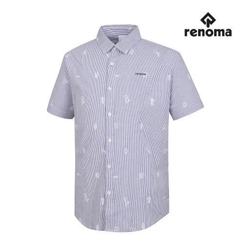 [레노마골프]남성 스트라이프 패턴 반팔 셔츠 RMBSG2602-110_G