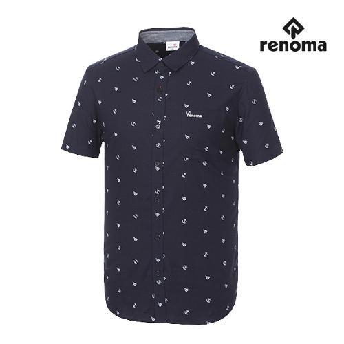 [레노마골프]남성 패턴 포켓 반팔 셔츠 RMBSG2603-120_G
