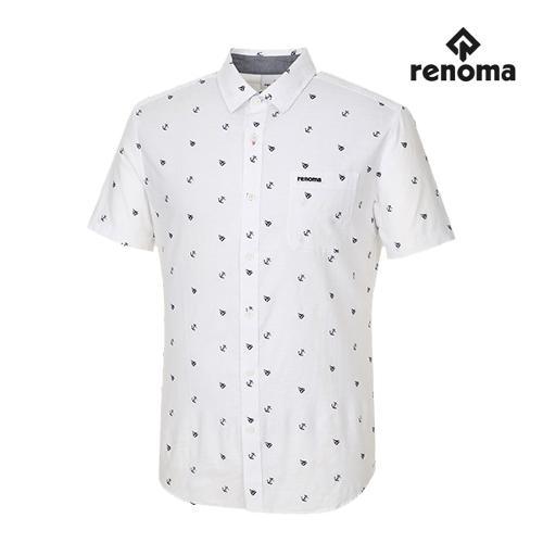 [레노마골프]남성 패턴 포켓 반팔 셔츠 RMBSG2603-100_G