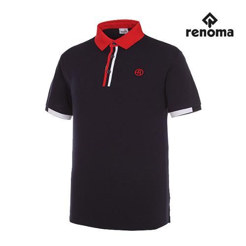 [레노마골프]남성 배색 포인트 반팔 티셔츠 RMTPG2101-120_G