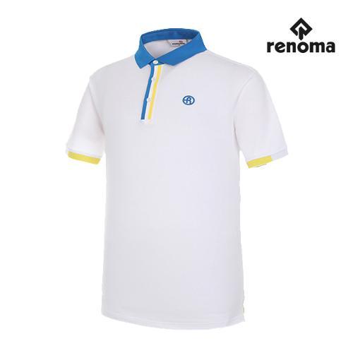 [레노마골프]남성 배색 포인트 반팔 티셔츠 RMTPG2101-100_G