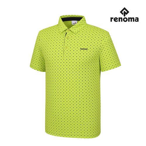 [레노마골프] 남성 패턴 카라 반팔 티셔츠 RMTYH2125-133_G