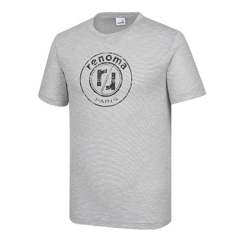 [레노마골프]남성 잔스트라이프 로고 반팔 티셔츠 RMTRI2131-190_G