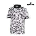 [레노마골프]남성 야자수 패턴 카라 반팔 티셔츠 RMTPH2132-100_G