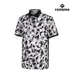 [레노마골프]남성 카모플라쥬 패턴 카라 반팔 티셔츠 RMTPH2117-199_G
