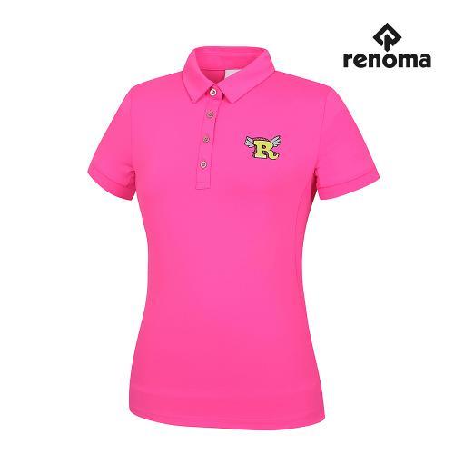 [레노마골프]여성 매쉬 패치 카라 반팔 티셔츠 RWTYG6103-403_G