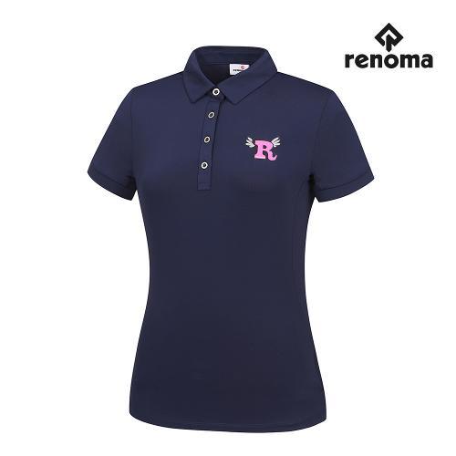 [레노마골프]여성 매쉬 패치 카라 반팔 티셔츠 RWTYG6103-120_G