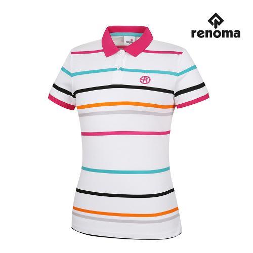 [레노마골프]여성 코튼 스트라이프 카라 반팔 티셔츠 RWTRG6125-100_G