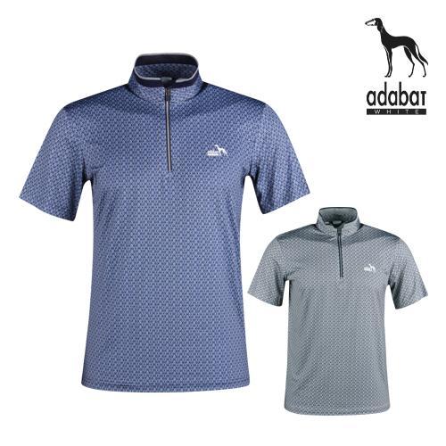 아다바트W 남성 여름 반팔 골프반집업셔츠 AB1M413