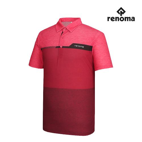 [레노마골프]남성 컬러 블록 카라 반팔 티셔츠 RMTYG2120-500_G