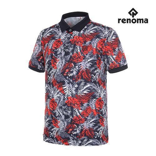 [레노마골프]남성 트로피컬 반팔 티셔츠 RMTPG2134-120_G
