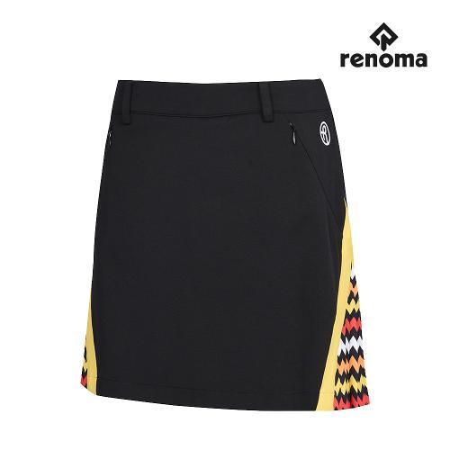[레노마골프]여성 패턴 배색 부분 플리츠 큐롯 RWPCG6522-199_G