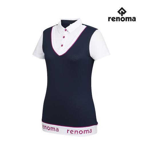 [레노마골프]여성 레이어드 카라 반팔 티셔츠 RWTYG6131-120_G