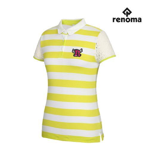 [레노마골프]여성 레이스 줄무늬 반팔티셔츠 RWTYG6120-130_G