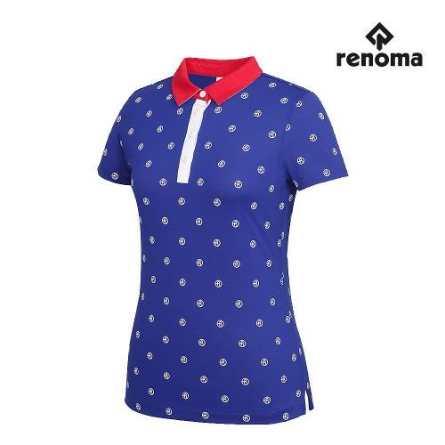 [레노마골프]여성 로고 패턴 카라 반팔 티셔츠 RWTYG6111-906_G