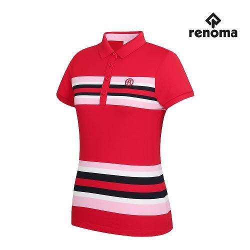 [레노마골프]여성 스트라이프 카라 반팔 티셔츠 RWTPG6102-500_G