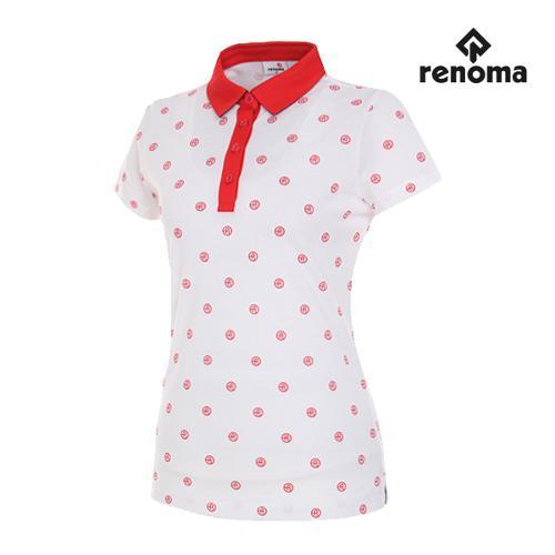 [레노마골프]여성 로고 도트 반팔 티셔츠 RWTYG6111-100_G
