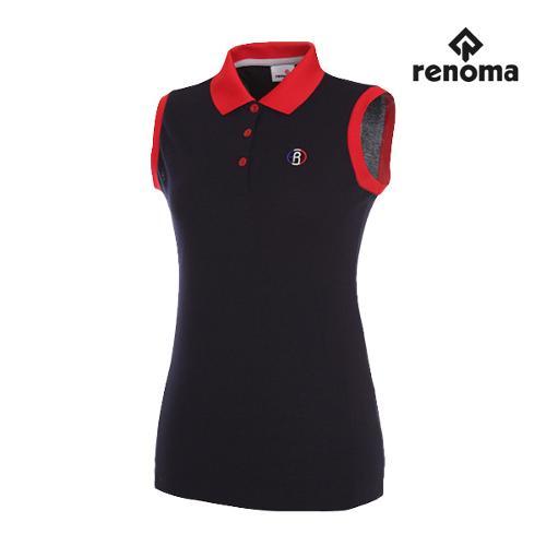 [레노마골프]여성 스타일 배색 민소매 티셔츠 RWTSG6109-120_G