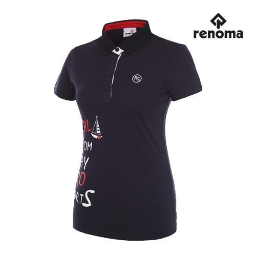 [레노마골프]여성 레터링 반팔 티셔츠 RWTPG6192-120_G
